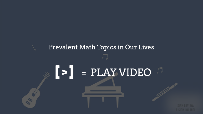 Math in Our Lives Series: SIAM Review